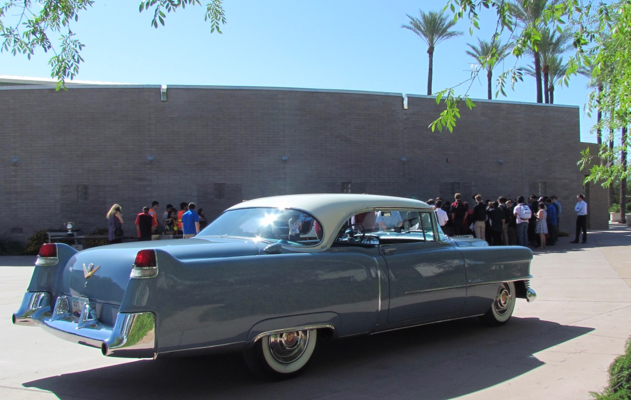 Phil Terry's award-winning 1954 Cadillac was part of the display at EVIT