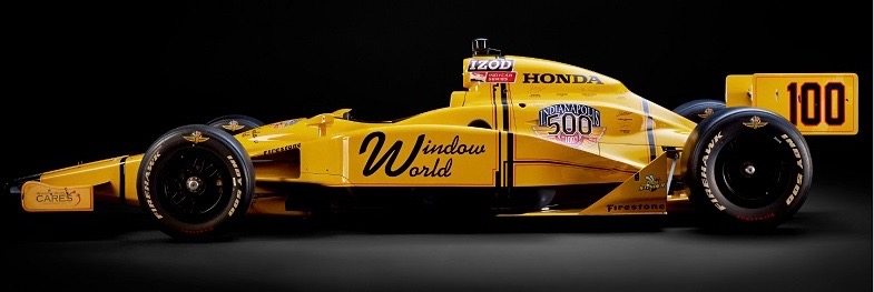 The Stinger has been autographed by nearly 250 Indy 500 veterans | Window World photos