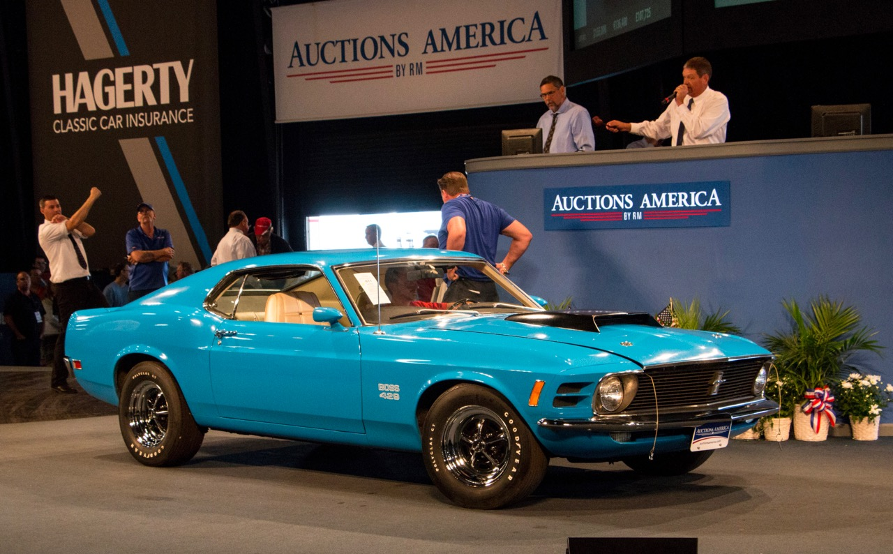 All-original 1970 Ford Mustang Boss 429 sells for $238,700 at Auburn Spring auction | Auctions America photos