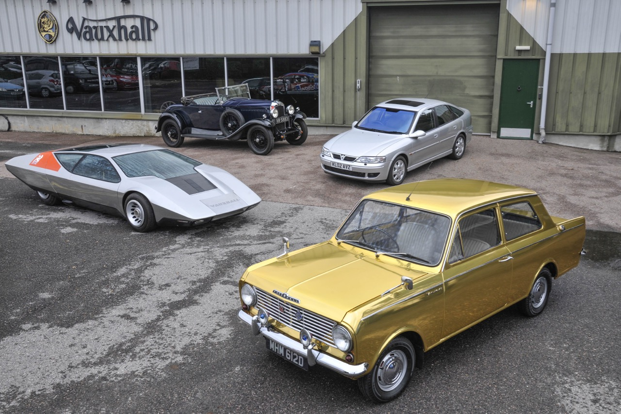 Some of the vehicles to be featured at Vauxhall's annual open house | Vauxhall Heritage photos