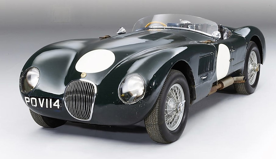 A 1953 Jaguar C-Type was one of the highest-selling cars of the month at $8 million | Bonhams