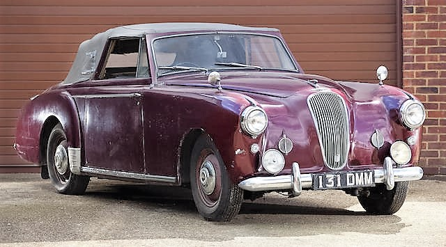 The 1955 Lagonda Drophead Coupe had Fangio provenance