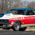 The 1971 Hemi 'Cuda raced by the Sox and Martin team dominated the drag strip