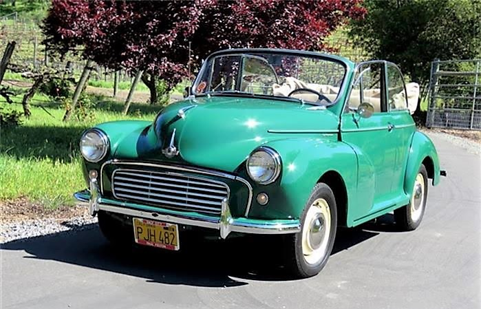 The 1958 Morris Minor convertible is said to have had a comprehensive restoration