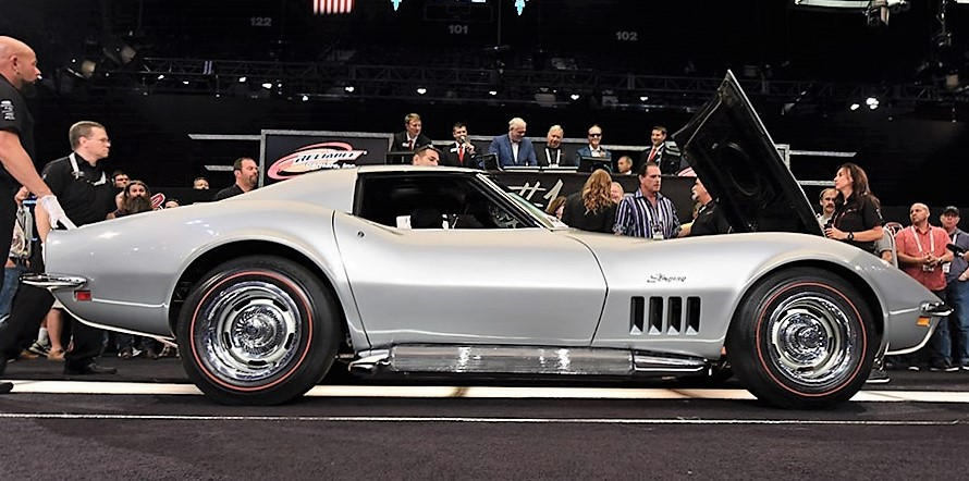A 1969 Chevrolet Corvette L-88 coupe was the top-selling car at the Northeast Auction | Barrett-Jackson photos