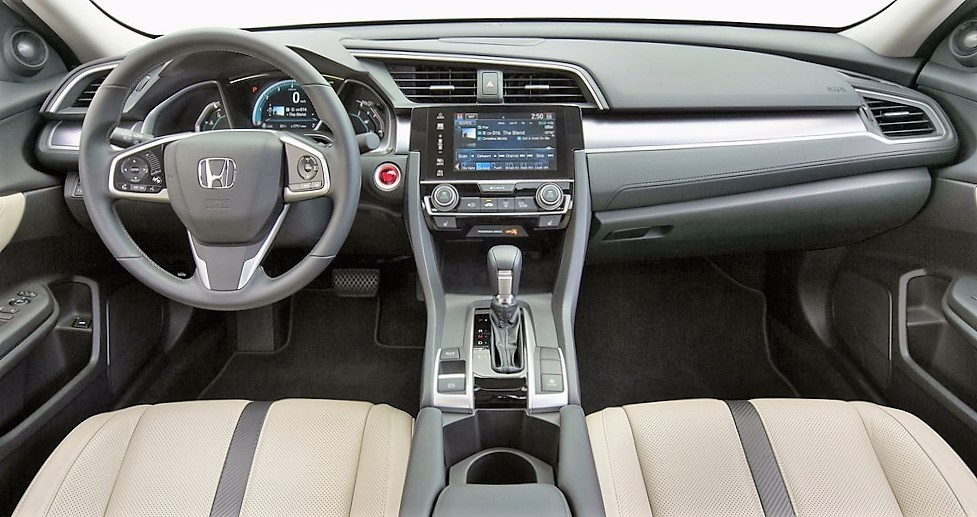 The Civic Touring's interior is unexpectedly luxurious | Honda