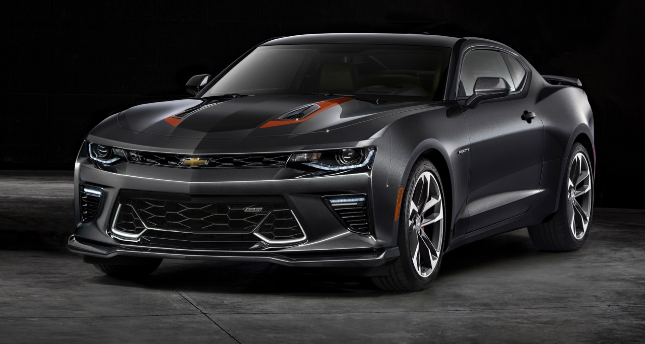 50th Anniversary Chevrolet Camaro SS features orange trim, including brake calipers