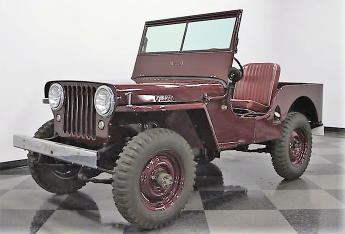 The 1945 Willys Jeep CJ2A was the first civilian version of the World War II utility vehicle