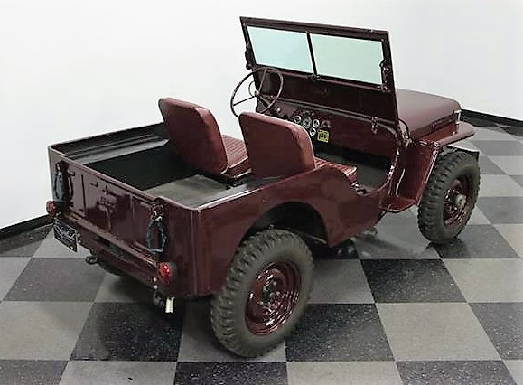 The Jeep has been driven just over 700 miles since restoration, the seller says