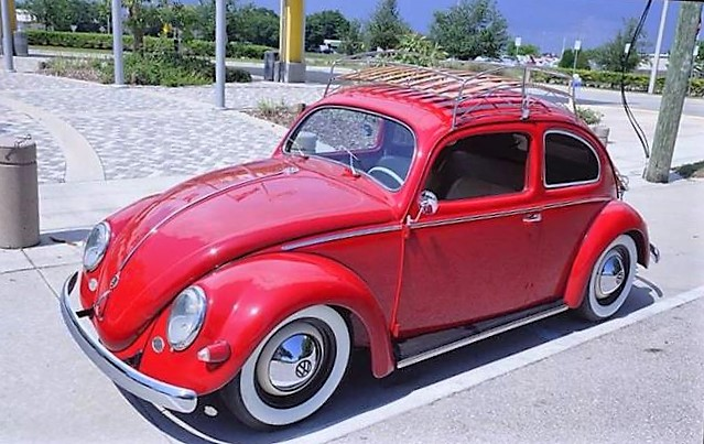 The 1955 Volkswagen could be described as a resto-mod