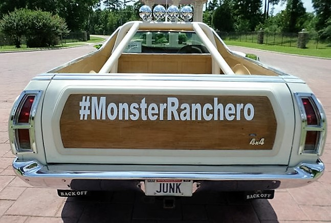 The rear of the Ranchero seems to say it all