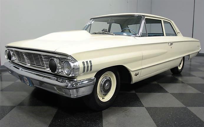 The 1964 Ford Custom two door is a Q-code version featuring a 427 cid V8