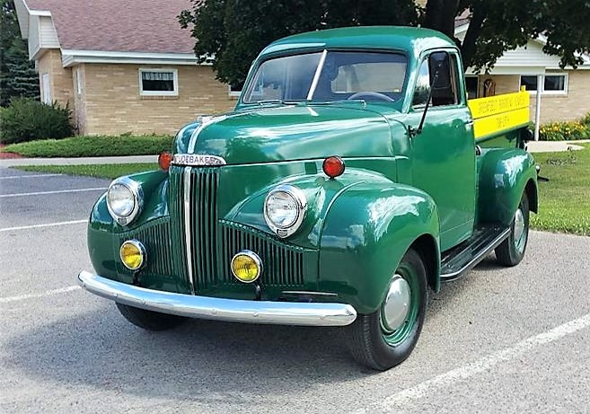 The Studebaker pickup looks factory fresh