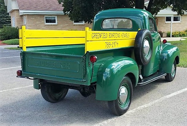 The pickup is a half-ton short-bed model