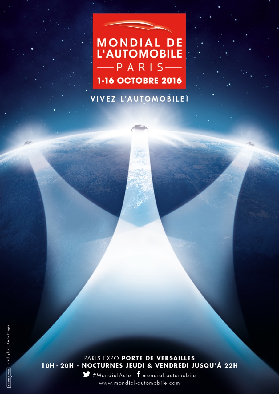 Poster for the 2016 Paris Motor Show | images from Coys