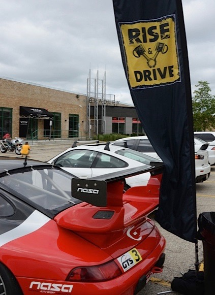 Rise & Drive gathers monthly at a Chicago collector car hub