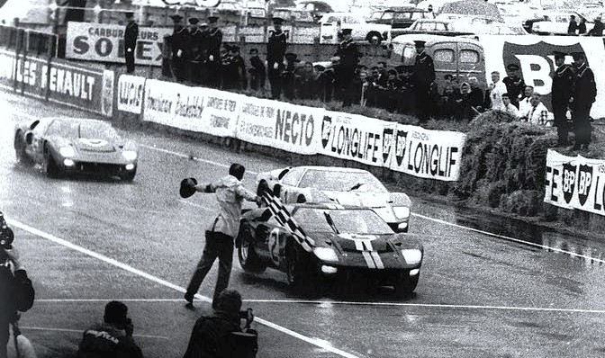 Ford GT40 cross the Le Man finish line in 1966 with a triple victory | Ford archive