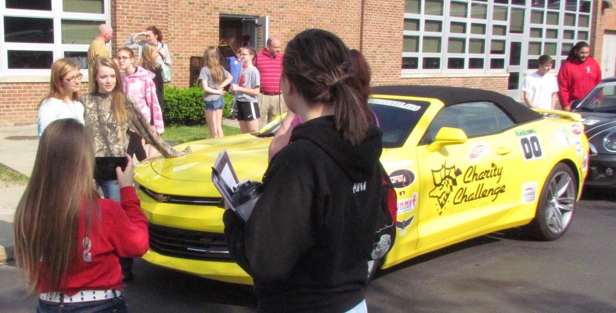 Camaro was popular when we visited a school