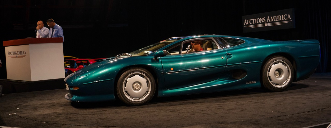 Museum's Jaguar XJ220 among top sellers at auction