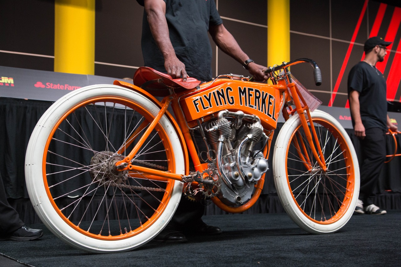 Flying Merkel racer brings top dollar at Chicago auction