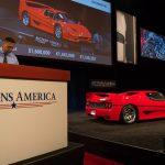 Top lot – The 1995 Ferrari F50 crosses Auctions America's Santa Monica auction podium, selling for a final $1,952,500 _Karissa Hosek (c) 2016 Courtesy Auctions America (1)