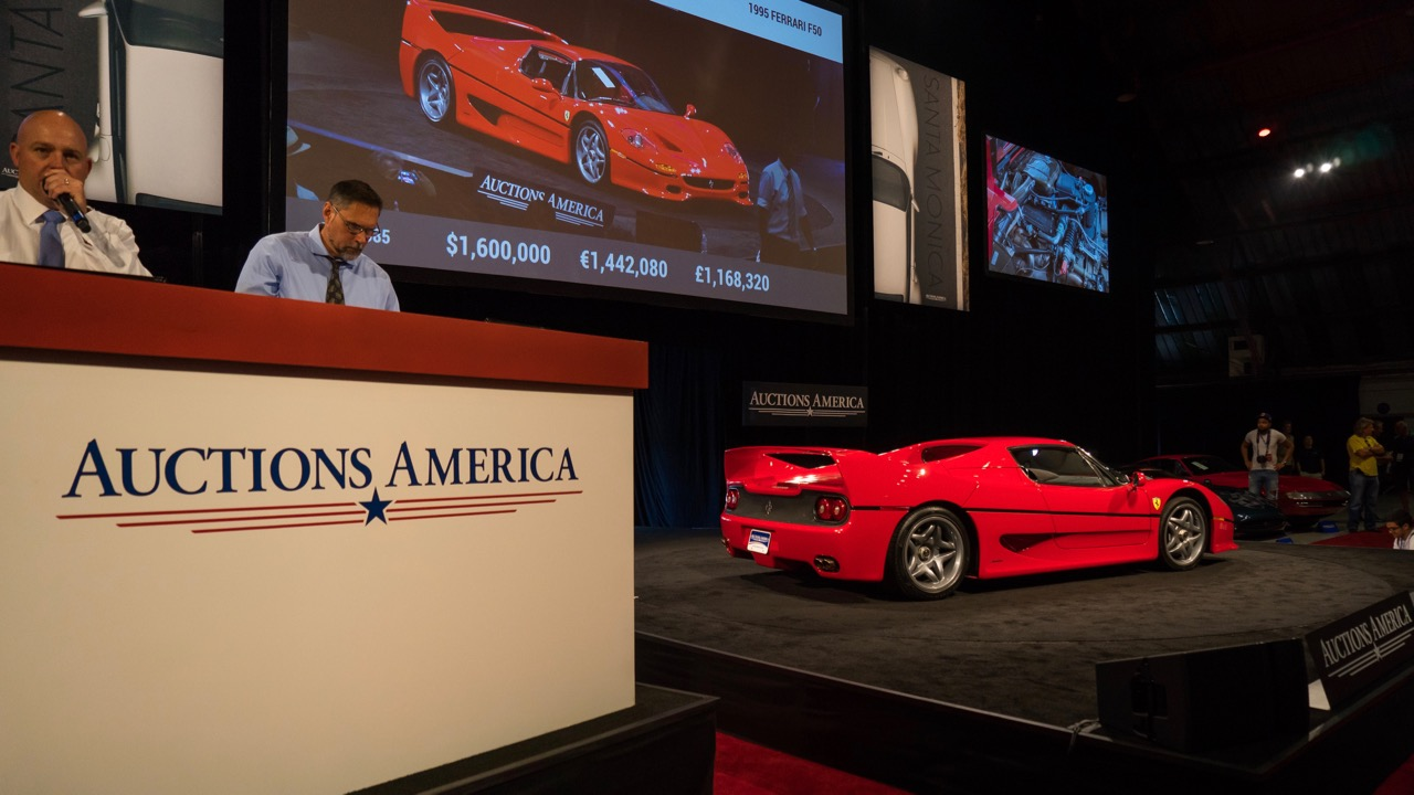 1995 Ferrari F50 tops sales chart at Santa Monica | Auctions America photos