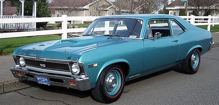 The 1968 Chevrolet COPO Nova SS has 427 V8 power