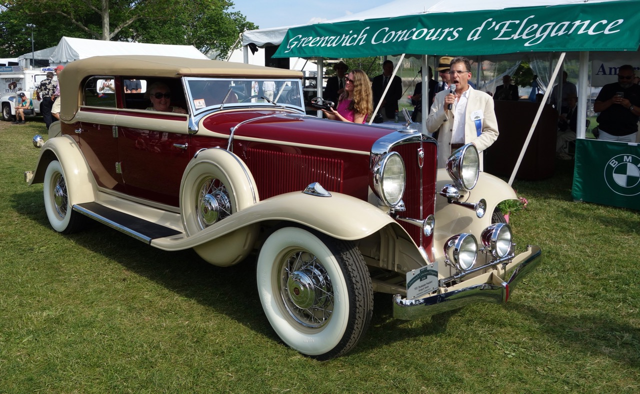 1932 Studebaker President convertible sedan wins best of show American at Greenwich | Andy Reid photos
