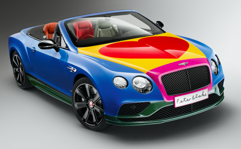 The Bentley painted by Peter Blake was sold for charity