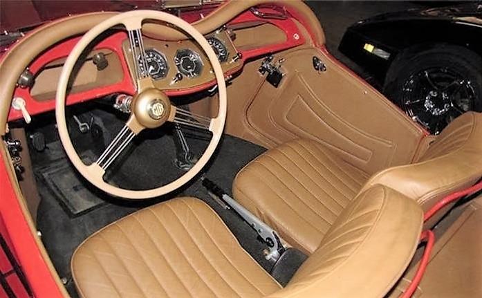 The MG's interior still looks fresh after its restoration