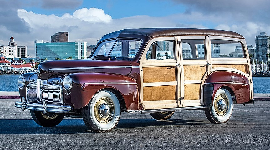 The 1942 woody wagon is said to be totally restored to original