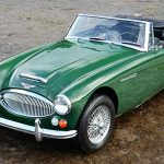 The 1967 Austin Healey 3000 looks to be in splendid condition