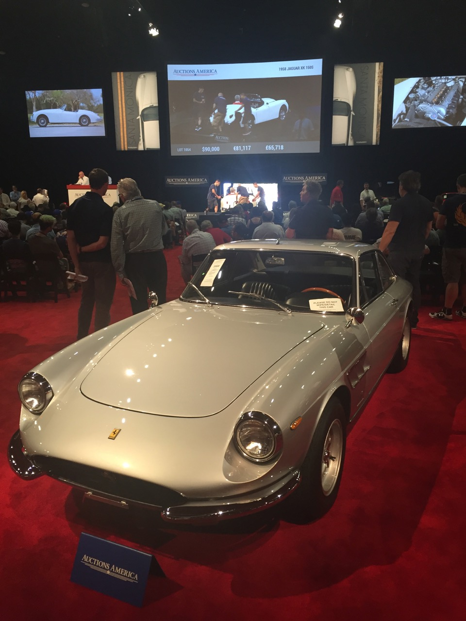 1966 Ferrari 330 GTC awaits its turn on the block | Larry Crane photos