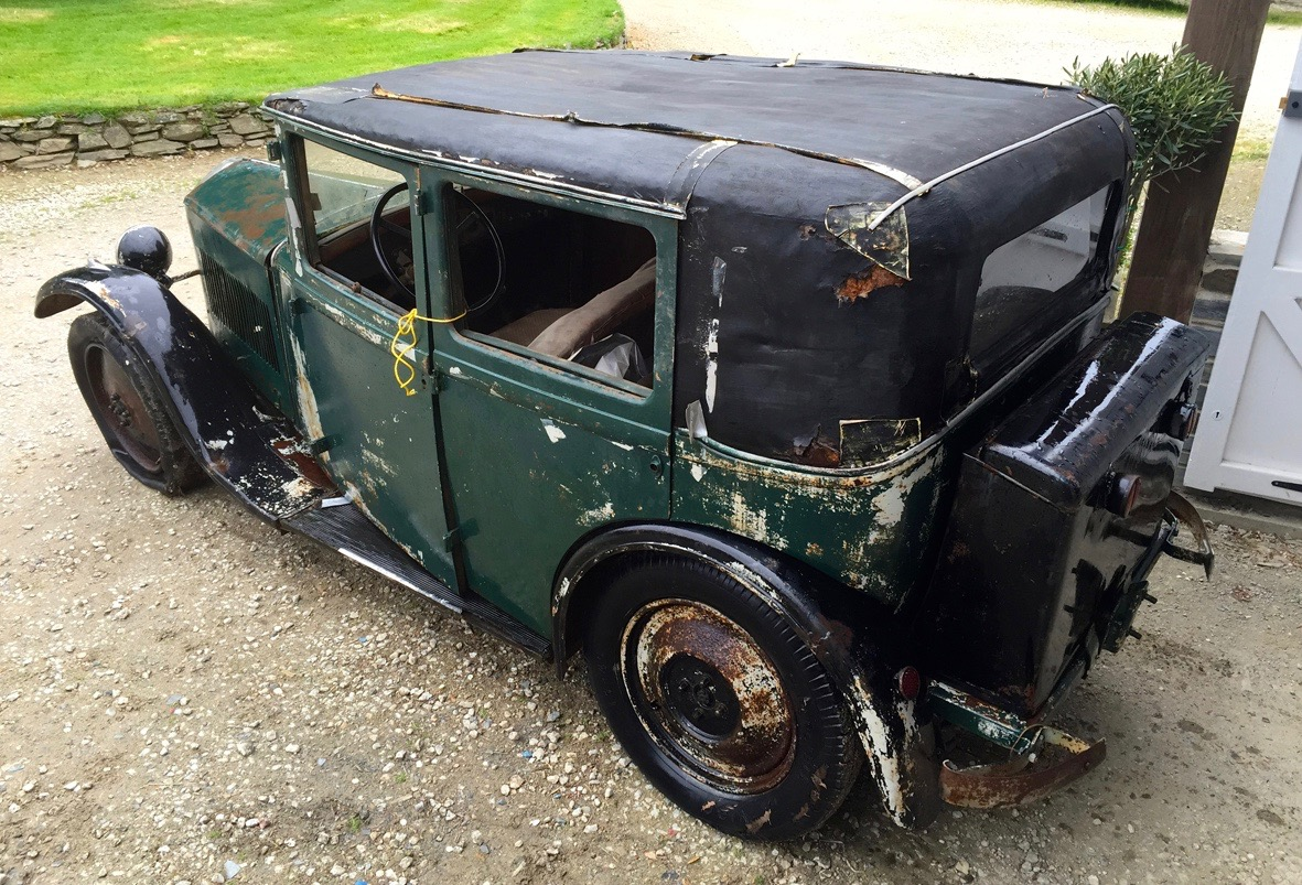 Car goes to auction in barn-found condition