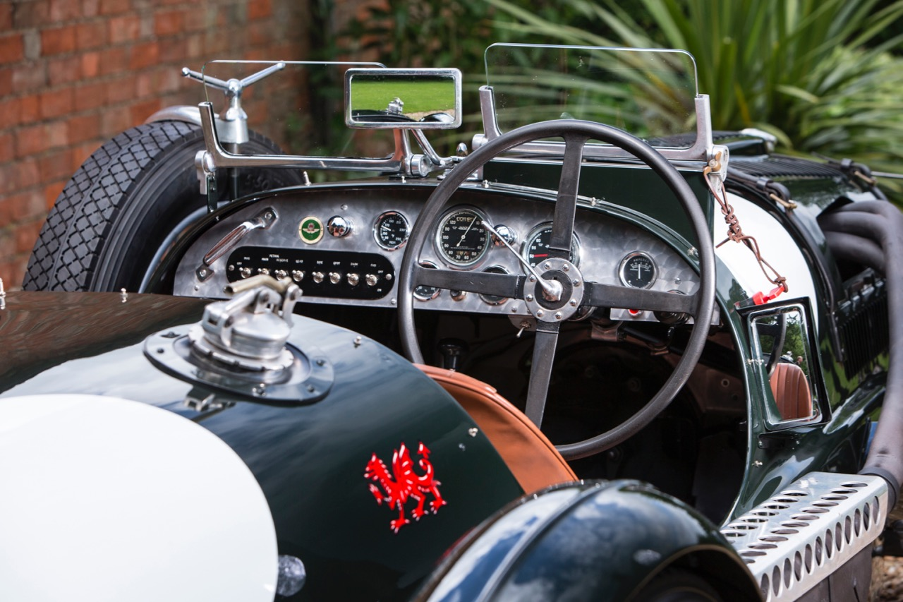 Red Dragon adorns the flanks of historic 1936 Aston Martin racer