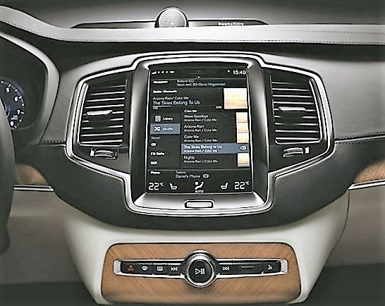 Control of the Volvo's numerous systems is done via a large, tablet-like video interface | Volvo