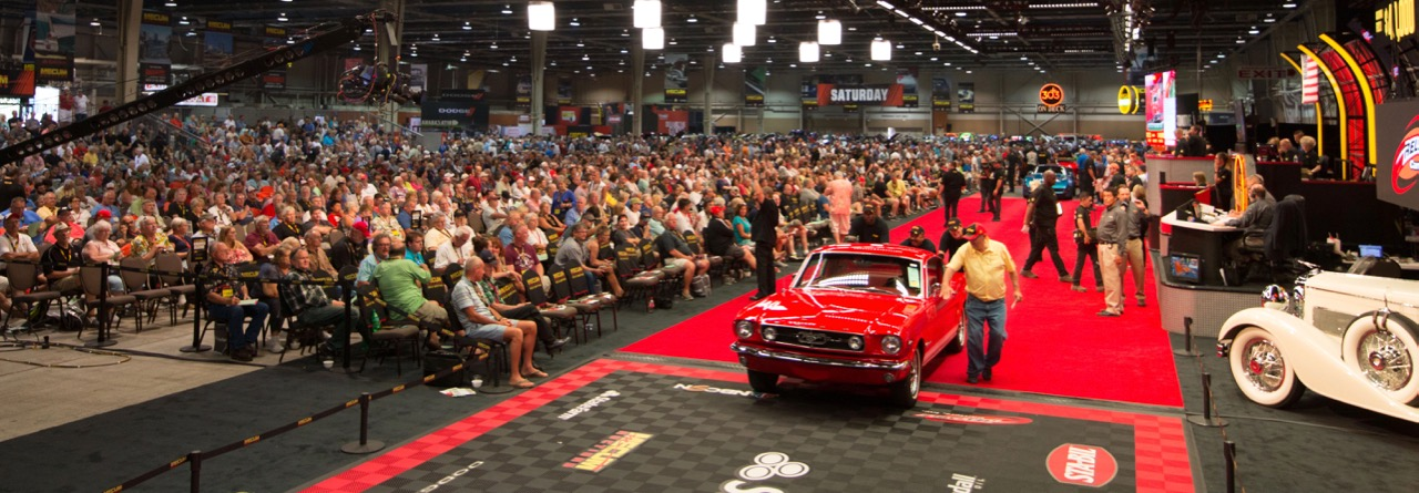 The scene at the sale in Harrisburg | Mecum Auctions photos