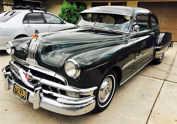 The Pontiac's chrome details still look shiny after 65 years