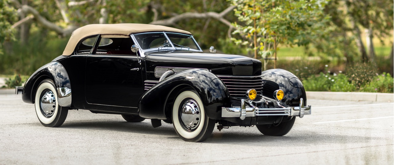 1937 Cord 812 Supercharged Phaeton joins classic Auburn and Duesenberg in the docket | Auctions America photo (Rohn Adams)