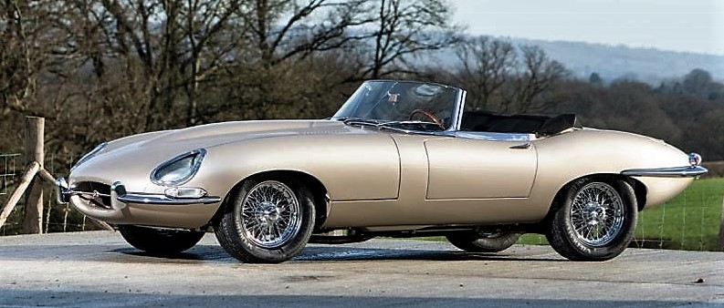 A Jaguar XK-E originally owned by singing star Diana Ross will be offered at the Quail Lodge auction | Bonhams
