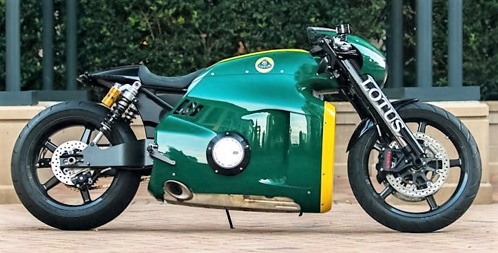 The 2014 Lotus C-01 is the highest valued motorcycle at the auction