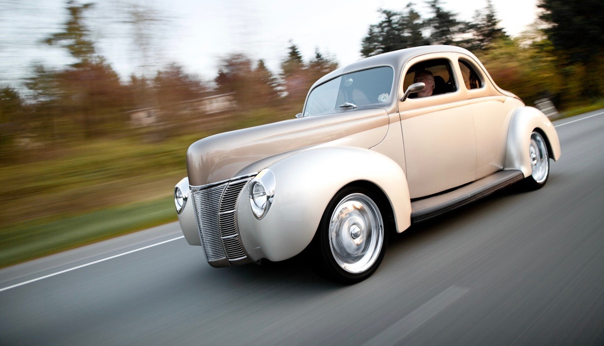 Fifty years later, Marty has another 1940 Ford Deluxe coupe | Martin Sampson photos