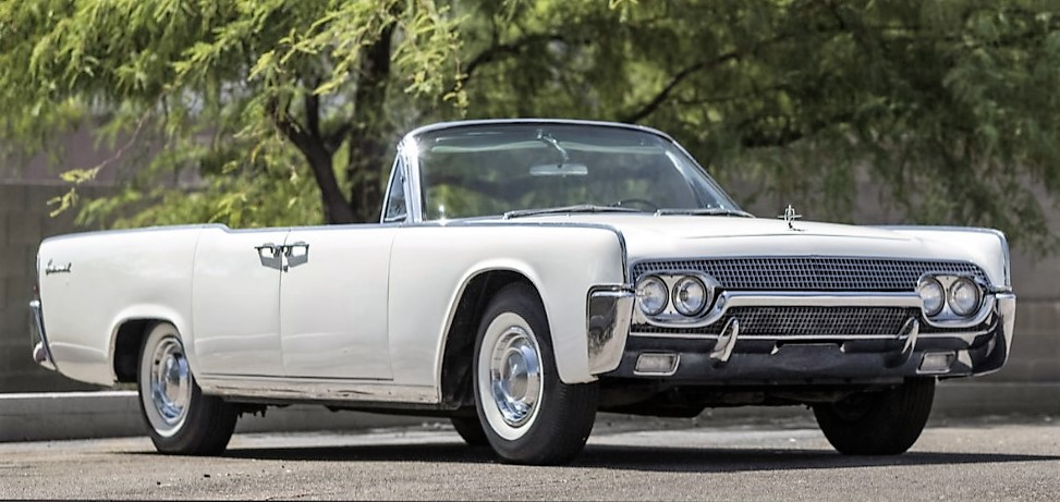 The Lincoln convertible was lent to First Lady Jackie Kennedy by Ford Motor Co. | Mecum Auctions photos