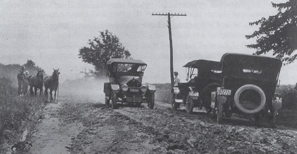 "A century ago, many 'roads"" were little more than muddy ruts 