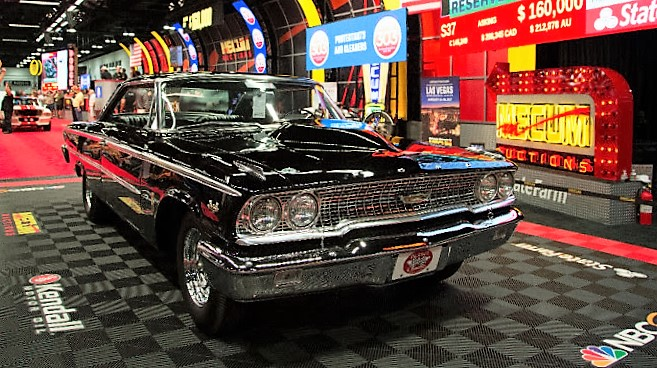 The 1963 Ford Galaxie is powered by an R-Code 427 V8 | Mecum Auction photos