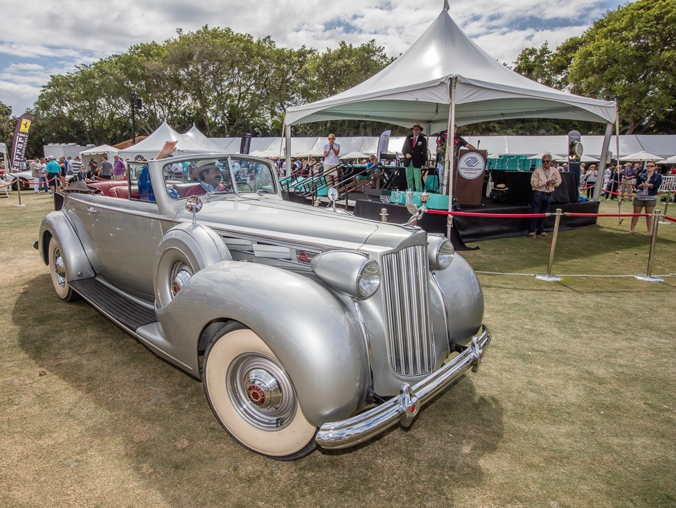 Car passes in review at Boca concours