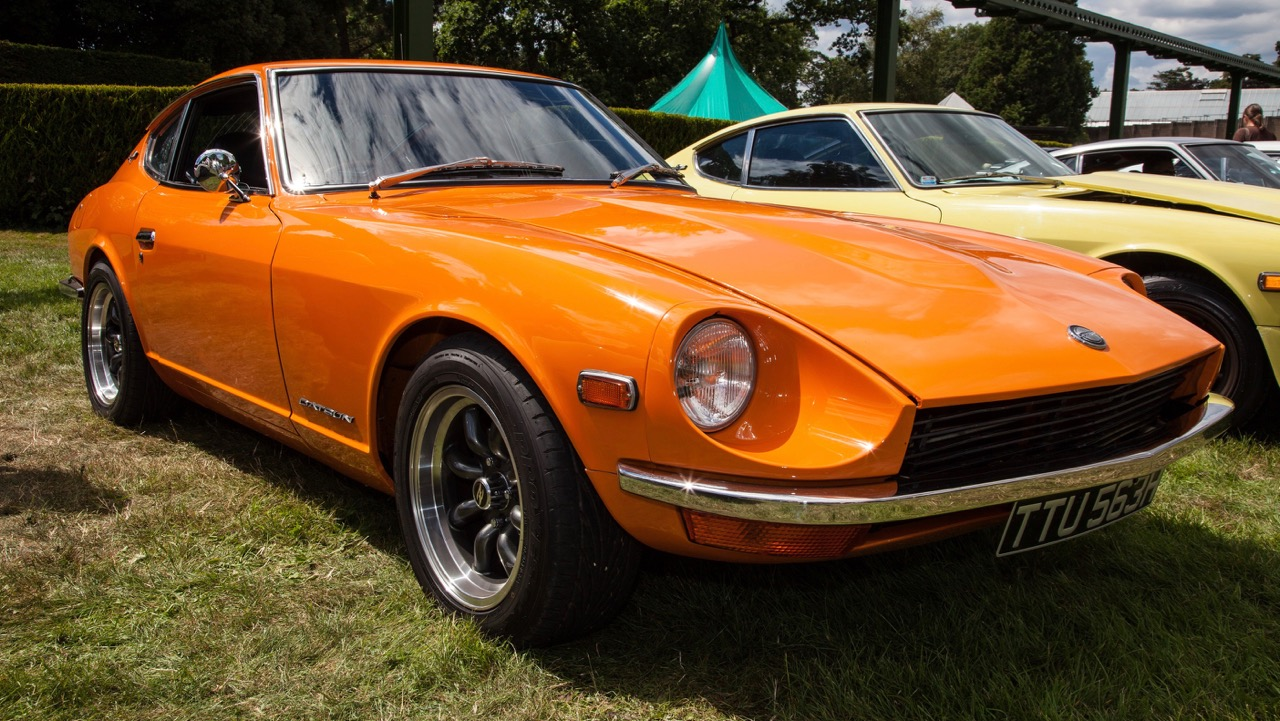 Classic Datsun Z car on the show field at Beaulieu's Simply Japanese rally | National Motor Museum photos