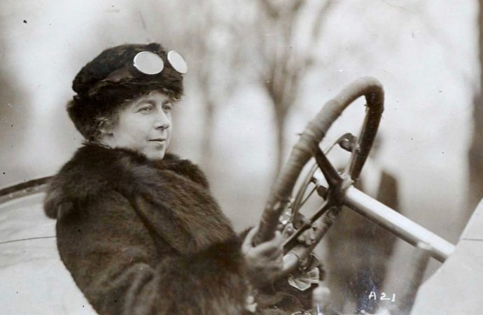 Pioneering woman racer's trophies headed to auction