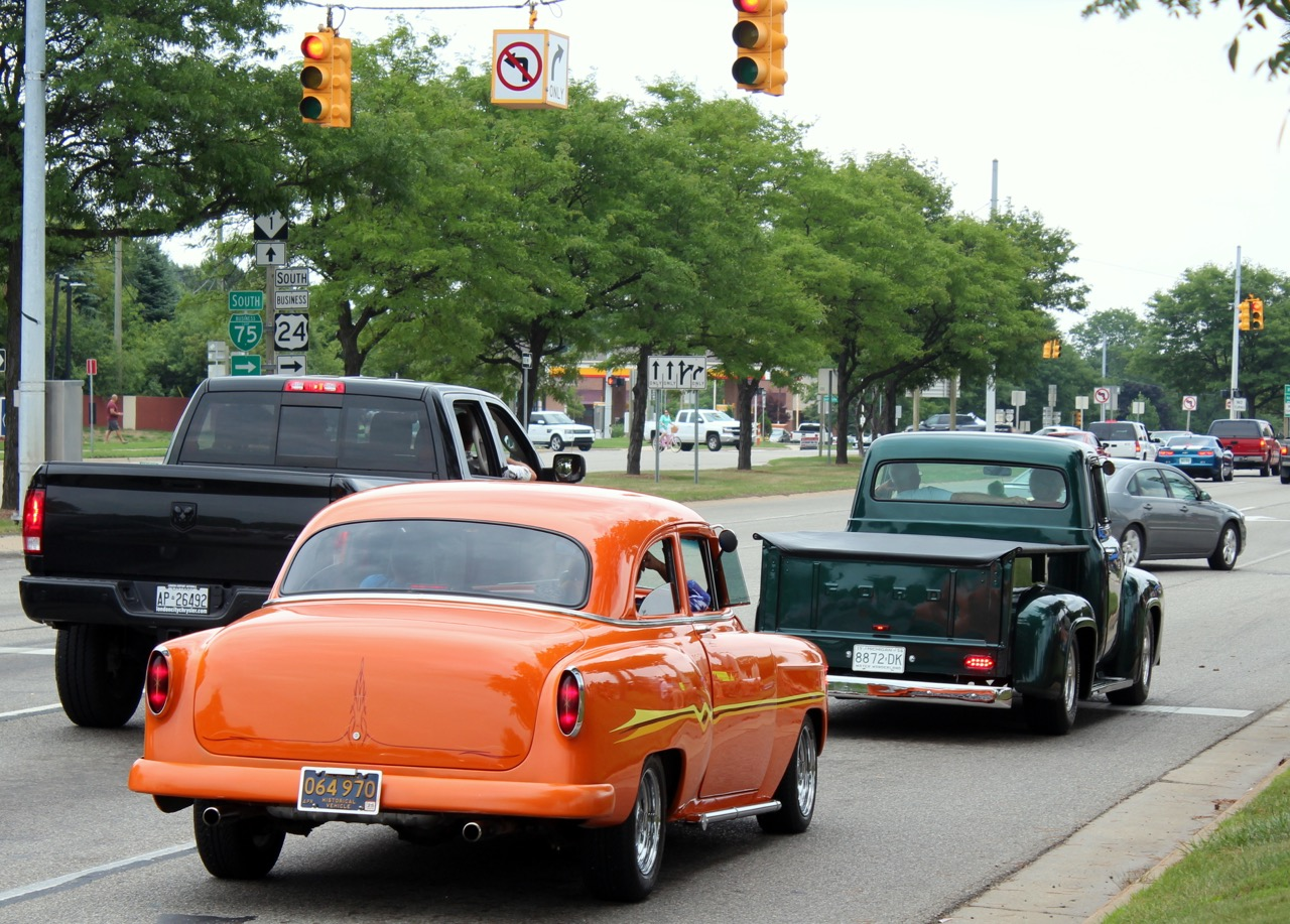 Cars cruise famed Woodward Avenue during the Detroit area's annual Dream Cruise week | Kevin A. Wilson photos