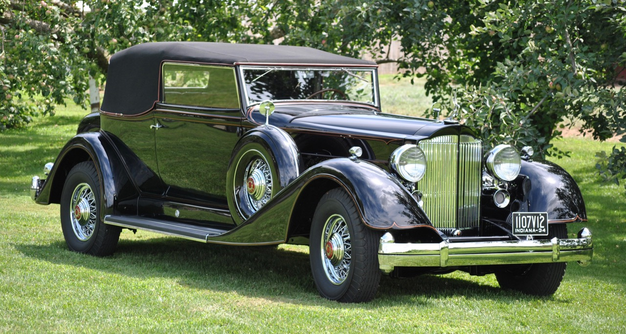 1934 Auburn 1250 V12 Salon Cabriolet among cars in exhibit at Notre Dame's art museum | Notre Dame photos